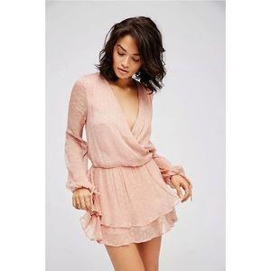 Free People Daliah Dropwaist Mini Dress Pink M New